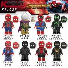 Человек паук вдали от дома фигурка о Mysterio Человек паук Нуар гвеном строительные блоки кирпичи игрушки совместимы с Lego KT1027