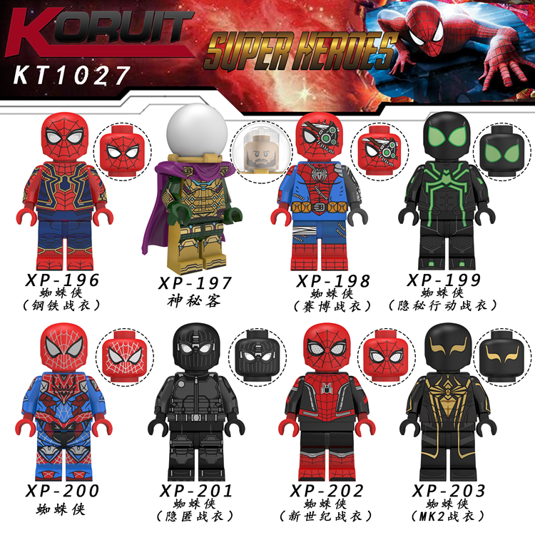 Spider Man Far From Home Figure o Mysterio Spider Man Noir Gwenom Building Blocks Bricks Toys Compatible With Lego KT1027-in Blocks from Toys & Hobbies