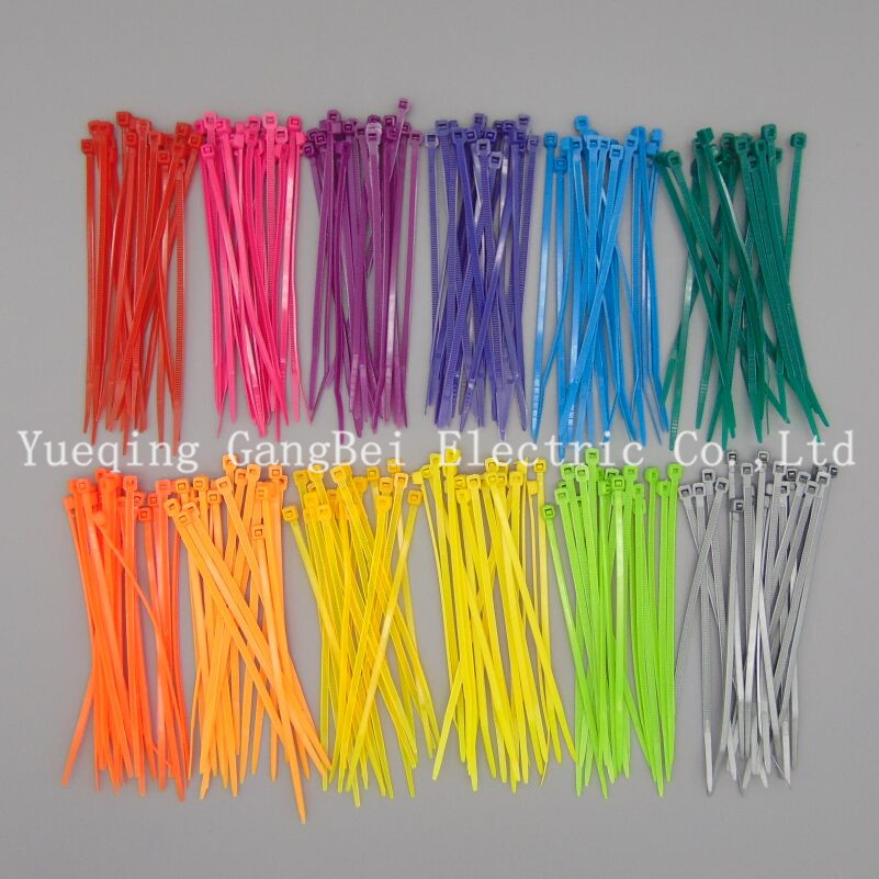 3*100 colorful cable tie Nylon cable ties All sorts of color