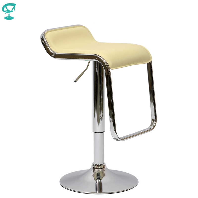 94869 Barneo N-41 Leather Kitchen Breakfast Bar Stool Swivel Bar Chair Cream Free Shipping In Russia