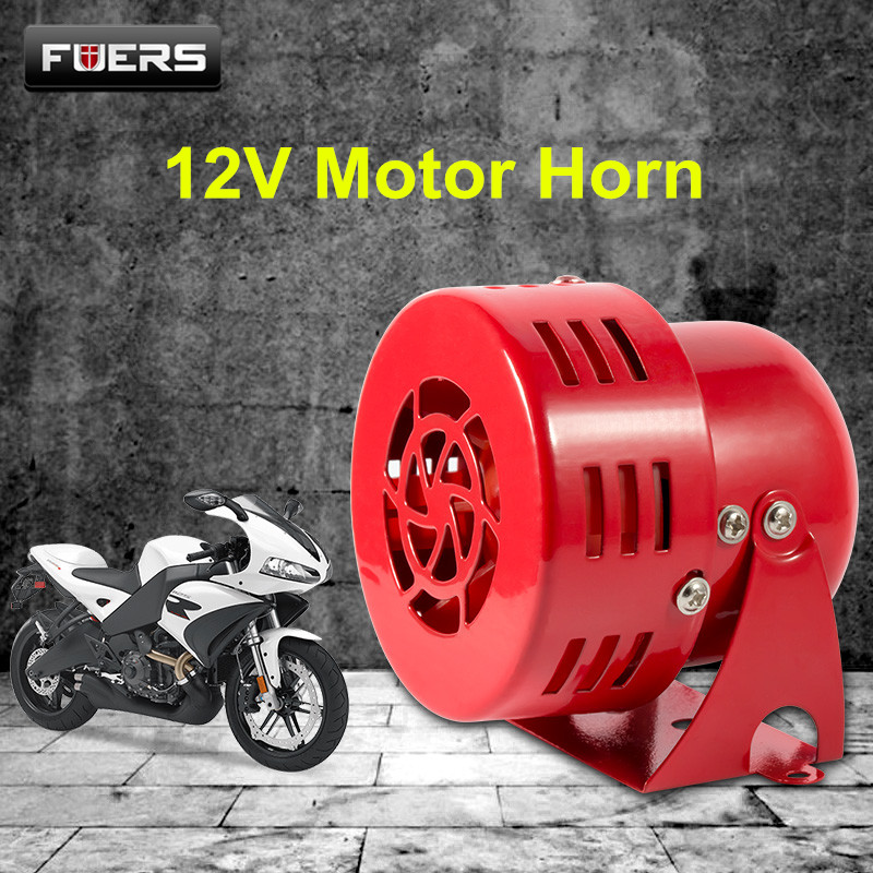 Fuers 110DB Motor Horn 12V 3 Automotive Air Raid Siren Horn Alarm Car Trucks Motor Driven Alarm Metal Horn For Vehicle motor siren ms 490 220v high decibel air raid siren horn motor mining industry double industry boat alarm
