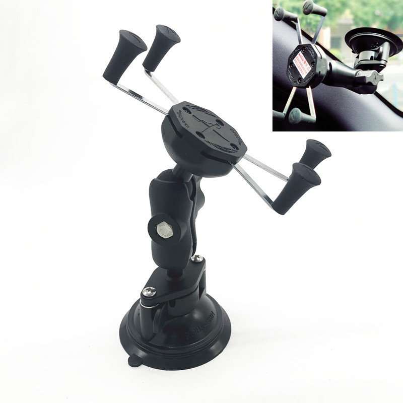 $31.40 Generic Car Window Twist Lock Suction Cup Mount + Universal X-Grip Cell Phone Holder for iphone 7 6s smartphone for ram mounts