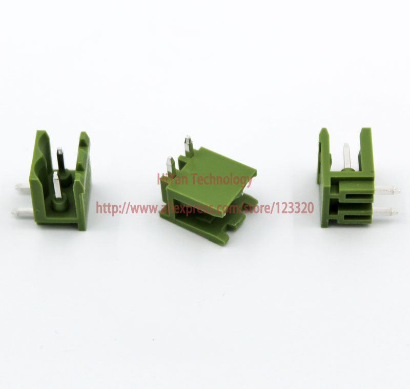(20sets/lot) PCB Screw Terminal Block Connector KF2EDGK 2P and 90 Degree Pin Header pitch:5.08MM/0.2inch Green 10A 300V 2Pins