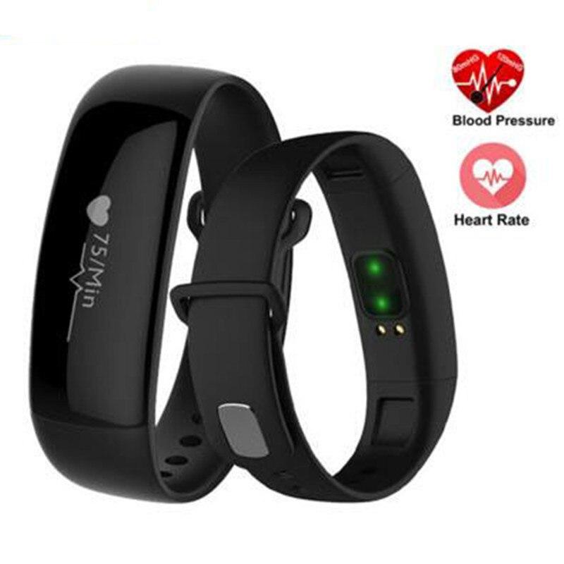 imágenes para Pulsera inteligente de La Presión Arterial Monitoreo de la Frecuencia Cardíaca Bluetooth Deporte Gimnasio Rastreador Pulsera SmartBand Salud Desgaste A Prueba de agua