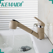 KEMAIDI Free Shipping Pull Out And Swivel Tap Faucet For Kitchen And Bathroom Two Functions Kitchen Mixer Single Handle Shower