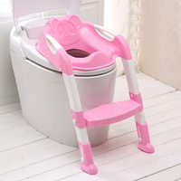 2 Colors Adjustable Ladder Infant Toilet Kid Potty Training Seat Children's Potty Baby Toilet Seat With Training Folding Seat