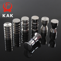 KAK Bathroom Shower Glass Door Handles Thicken Bathroom Pulls Stainless Steel Solid Glass Door Knobs Furniture