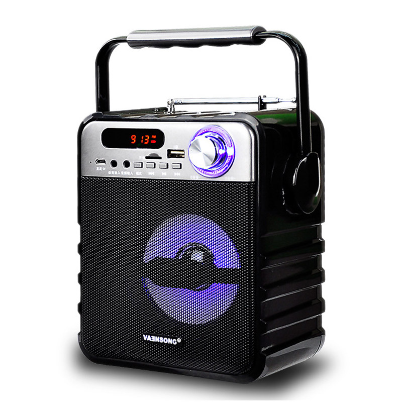 Portable Wireless Bluetooth Audio Speakers AUX Mini FM Radio USB Card Subwoofer Bass Loudspeaker Karaoke 3D Surround Sound Box dolby surround sound audio processor usb decoding dac pre amp usb sound card