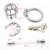 Dispositivo de Castidade de Aço inoxidável com Cateter Uretral e Anti-Derramamento Anel Penis Anel Caralho Gaiola Cinto de virgindade A282-2