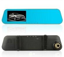 Новое поступление 4.3 дюймов Full HD 1080 P автомобиля Зеркало заднего вида видеорегистратор автомобильный Камера парковка Ночное видение Видеорегистраторы для автомобилей Двойной Камера видео Регистраторы
