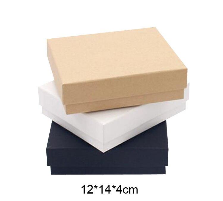 Ongebruikt Gratis verzending Geschenkdoos Kraft Materiaal 12*14*4 cm Lege ZE-61
