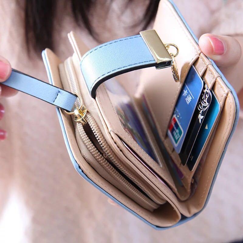 2018 doodoo mode pu läder kvinnors plånbok handväska kvinnliga - Plånböcker - Foto 4
