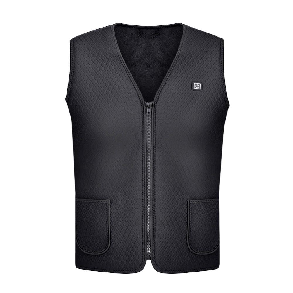 2018 New Men Women Electric Heated Vest Heating Waistcoat Thermal Warm Clothing Feather Hot Sale Winter Heat Warm Jacket