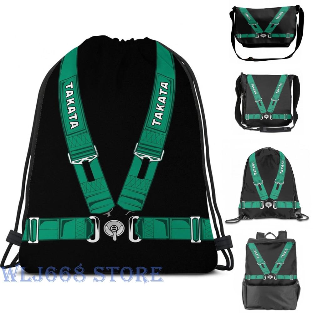 Funny Graphic Print Shoulder Bags Women TAKATA SEALTBELT Single Shoulder Backpack Travel For Men Gym Bag