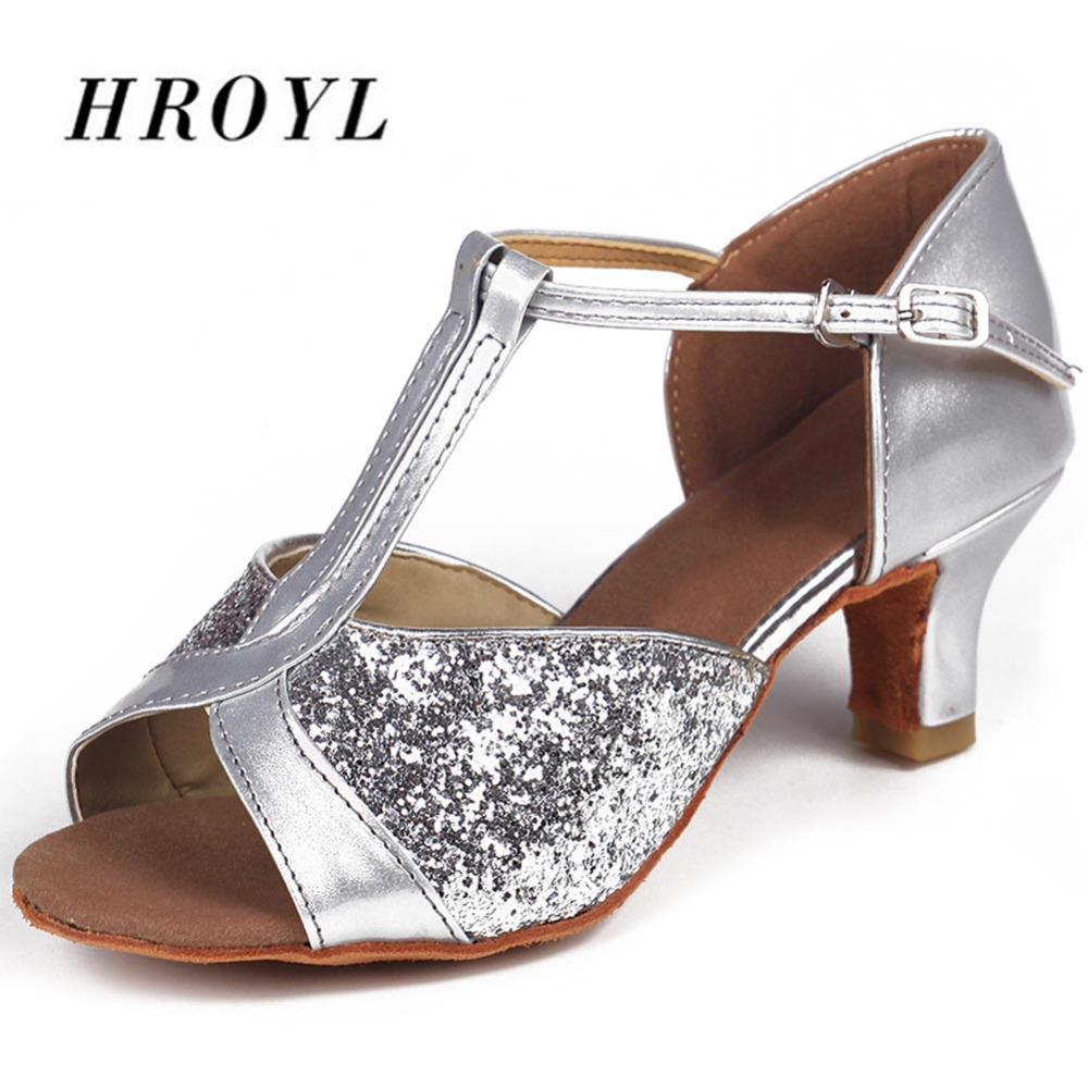 Size 34-41 Adult Latin Tango Ballroom Dance Shoes 5CM Heeled Salsa Dancing Shoes For Women Girl's Ladies Colors On Sale