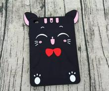 Para ipad mini 3 2 1 soft case animal lindo de la historieta 3d lucky cat silicio piel cubierta de shell para apple ipad mini 12 mini3 funda coque