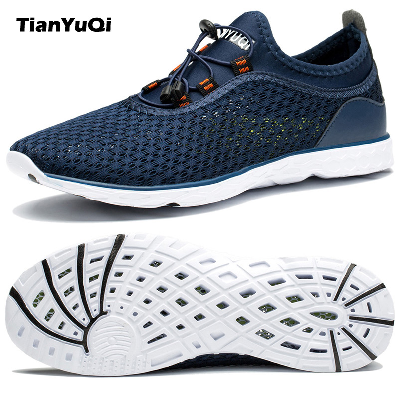 TianYuQi 2017 Summer Breathable Men Casual Shoes Mesh Cool ...