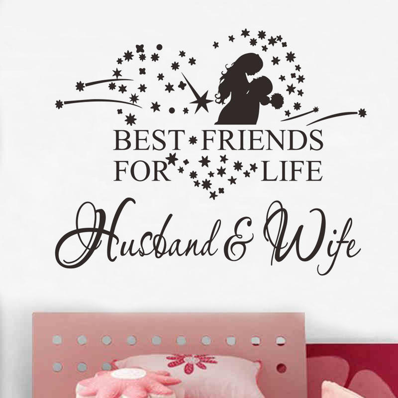 Best Friends For Life Husband /& Wife Romantic Bedroom Wall Sticker Quote Decal