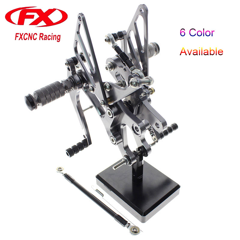 FX CNC Adjustable Motorcycle Foot Rests Rear Sets Foot Pegs Fit for YAMAHA YZF R1 YZF R1 1998 1999 2000 2001 2002 2003
