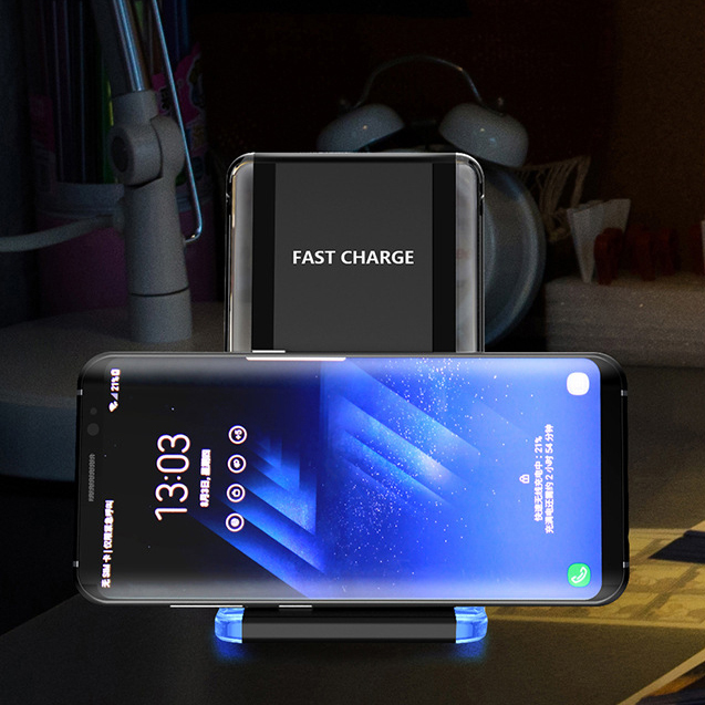 Galaxy Desk Phone Holder Stand With Qi Fast Wireless Charging Function For iPhoneX Xs Max For Samsung Note9 8 S9 S8 Plus Holder