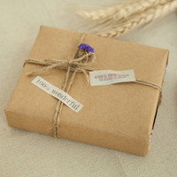 5Pcs Lot 52 75cm Plain Brown Kraft Paper Wrapper Handmade Soap Vintage Gift Wrapping Paper Artware