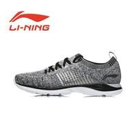 Li Ning Men Super Light XV Running Shoes Light Weight Breathable Sneakers Mono Yarn Li Ning Sports Shoes ARBN009 Y