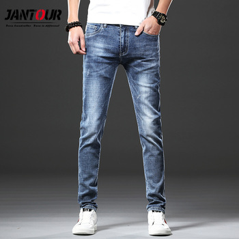 Jantour Skinny Jeans men Slim Fit Denim Joggers Stretch Male Jean Pencil Pants Blue Men's jeans fashion Casual Hombre new 1