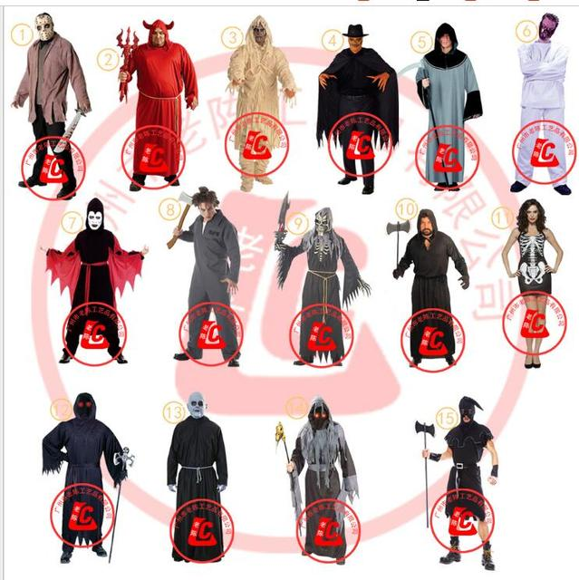US $19 99 |Demon Skeleton Evil Priest Executioner cosplay cloak coats  fantasia grim reaper costume for men Halloween Party Cosplay costumes-in  Sexy