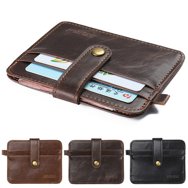 d12bb6f21728 1Pc Men s Faux Leather Small ID Credit Card Business Wallet Holder Slim  Pocket Case Men Wallet
