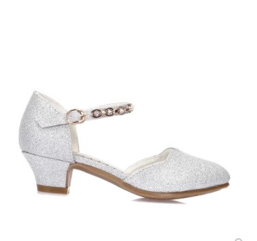 NEW Princess Girls Sandals Kids Shoes For Girls Dress Shoes Little High Heel Glitter Summer Party Wedding Sandal Children Shoe