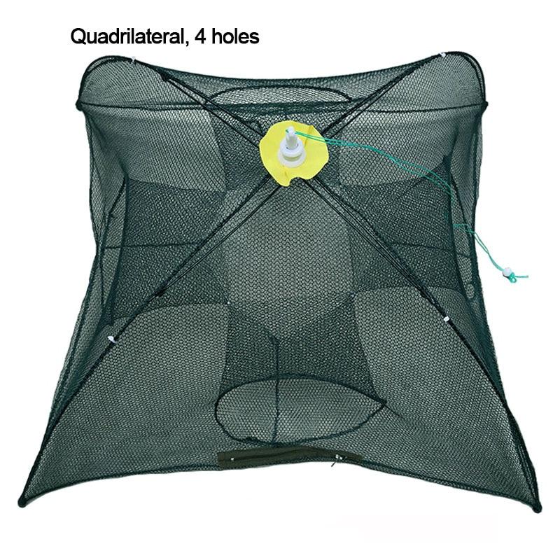 Rede de pesca 4-12 buracos guarda-chuva automático