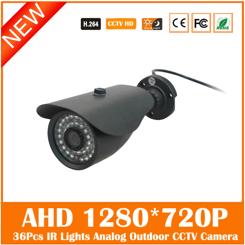 Ahd 1.0 Mp 720p Bullet Camera Outdoor 36pcs Infrared Lights Night Vision Waterproof Surveillance Security Freeshipping Hot Sale ccd 700tvl bullet camera 24 infrared light night vision home security surveillance cctv outdoor waterproof freeshipping hot