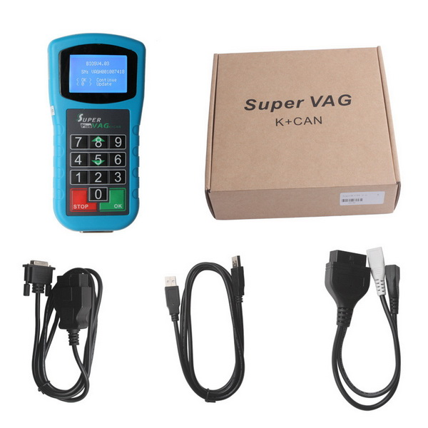 DHL Free Shipping Super VAG K+CAN Plus 2.0 Airbag Reset Tool/Odometer Correction Tool/Coding/Key Programmer for VW AUDI obdstar vag pro car key programmer epb airbag srs odometer mileage change obd 2 scan tool for vw audi skoda seat volkswagen