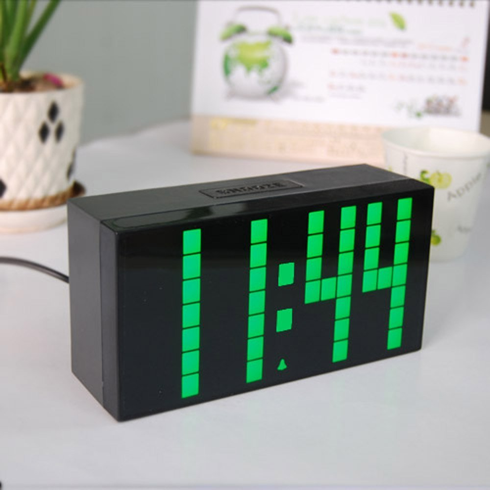 Big digit led alarm clock black durable wall clock with calendar big digit led alarm clock black durable wall clock with calendar and temperature school countdown timer and in alarm clocks from home garden on amipublicfo Gallery