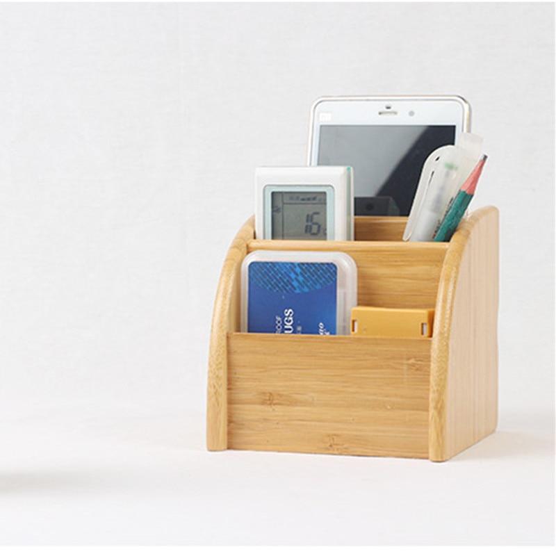 Bambusz tároló doboz 3 résszel Táblázat dekor Távirányító - Szervezés és tárolás - Fénykép 2