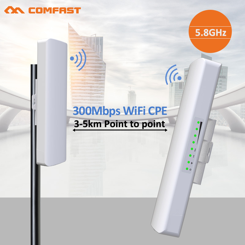 2Pcs 3-5KM High Power Wireless Wifi Repeater Router Outdoor 5.8Ghz Access Point Wi fi AP WIFI Range Extender 2*14 Antennas Wi fi wireless router wifi repeater amplifier wi fi router ap 2 4ghz 300mbps wifi range english firmware 4 5dbi high gain antennas wps