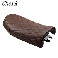 Cherk Motorcycle Brown Vintage Cafe Racer Seat For Honda CB CL Retro Cafe Racer CB200 CB350 CB400 CB500 CB550 CB750 Retro Saddle