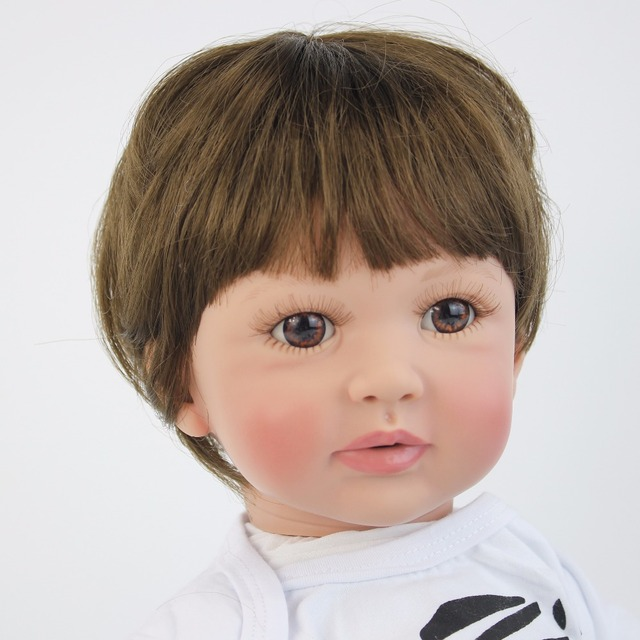 60cm Big Size Silicone Vinyl Reborn Baby Boy Doll Toy For Girl Lifelike 24 inch Toddler