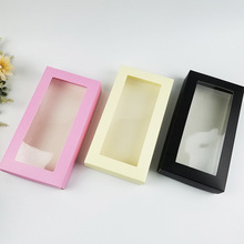 6pcs With Clear Window Gift Bags Box Wedding Chocolate Candy Box Cake Paper Packaging Box Rectangle Favor Box Biscuit Clothes