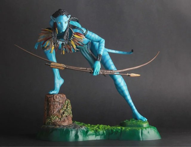 US $73 0 |James Cameron Classic Movie Hollywood Sequel Avatar 2 Navi  Neytiri Action Figure Statue 50cm Anime Figure Collectible Model Toy-in  Action &