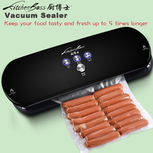 KitchenBoss Free Shipping 100-240VAC Household Vacuum Sealer Automatic Vacuum Sealing System Keeps Fresh up to 6x Longer 2016
