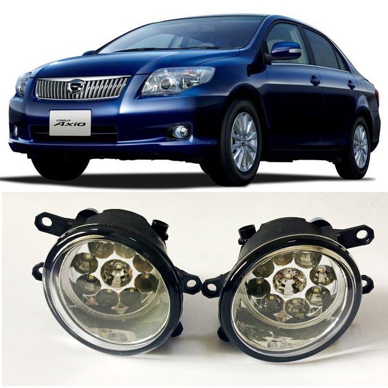Car-Styling For Toyota Corolla Axio 2008-2012 9-Pieces Leds Chips LED Fog Head Lamp H11 H8 12V 55W Halogen Fog Lights система освещения 2008 2010 toyota corolla 4 al