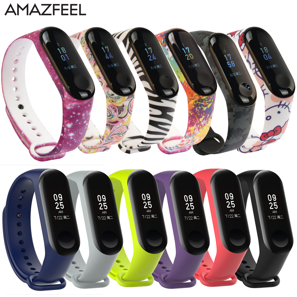100Pcs/Pack For Mi Band 3 Strap Miband 4 Wrist Strap Silicone Mi Band 4 3 Wristband Replacement Miband 3 4 Bracelet Silicone