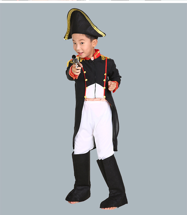 2018 Child Boy kolonel Movie Character Officer Cosplay Fancy Dress Warrior Halloween Carnival Party Kostymer