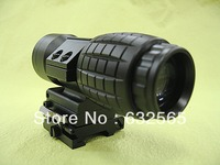 Tactical 3X Magnifier Rifle Scope With Flip To Side Mount Fit Aimpoint Scope Sight For Hunting