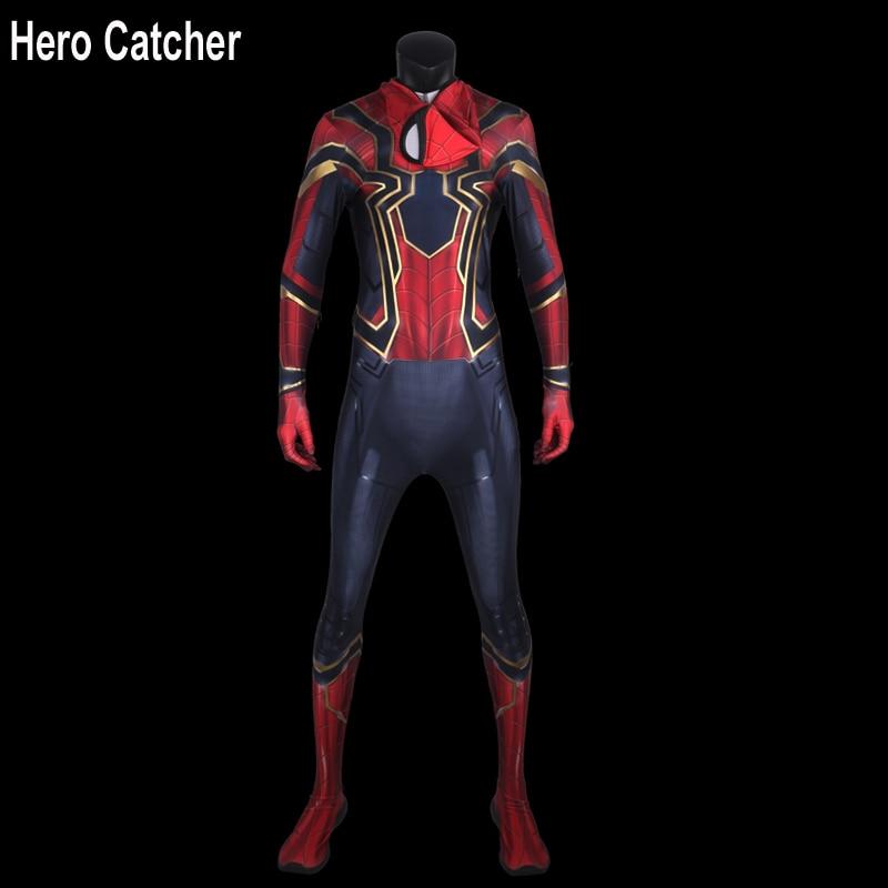 Hero Catcher 4 Newest Infinity War Iron Spider Cosplay Costume 2018 Infinity War Spiderman Suit With Details