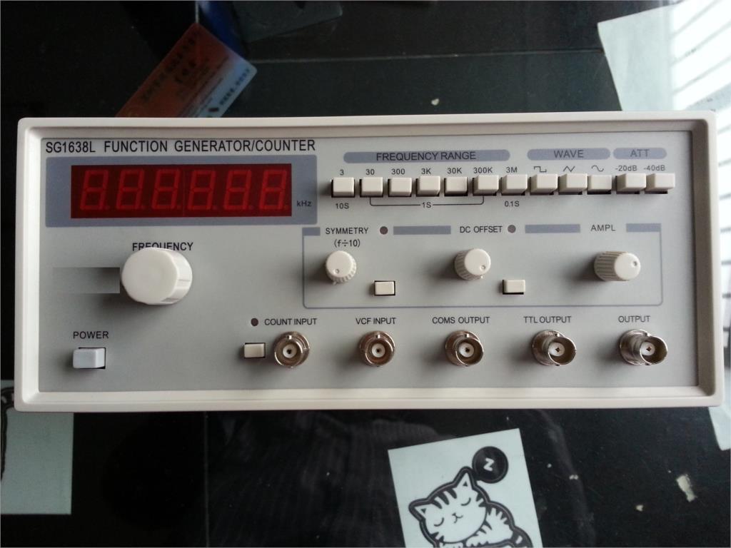 Fast arrival SG1638L Function Waveform Signal Generator/COUNTER 0.02Hz - 3MHz AC 220V ( with digital display цена