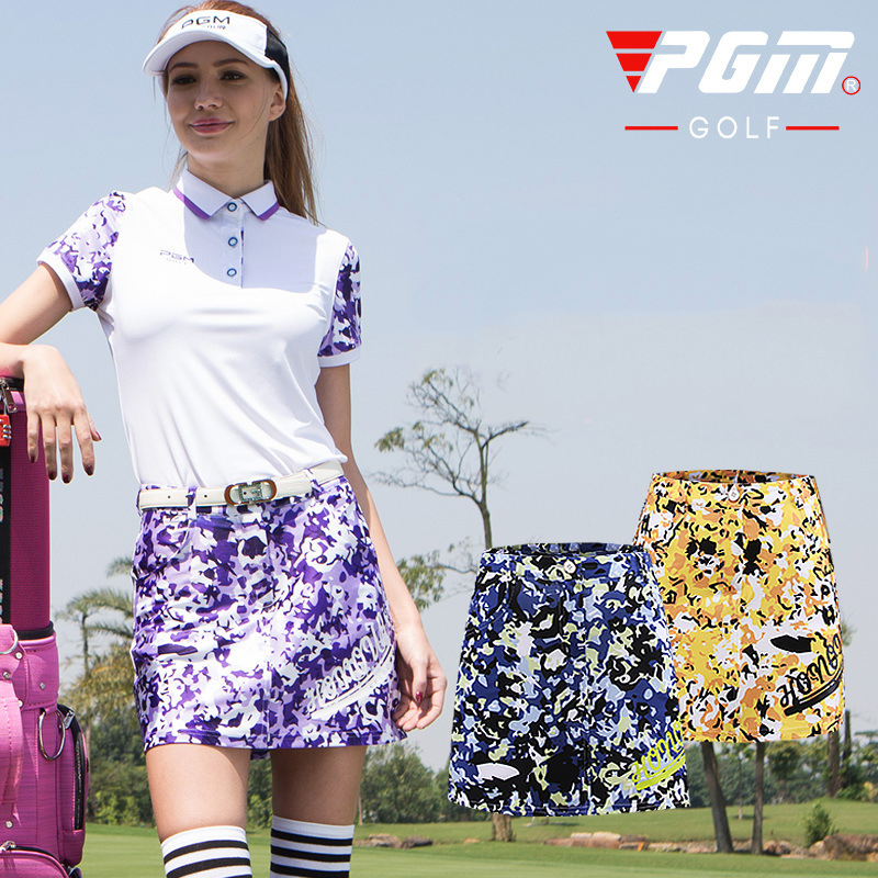 PGM Golf Shorts For Women Brand Summer Colorful Golf Skirts Woman Outdoor Sportswear Lady Golf Wear Golf Training Wear Clothing women golf skirt lady summer outdoor golf skorts female spring golf apparel breathable lattice golf sports shorts skirts navy