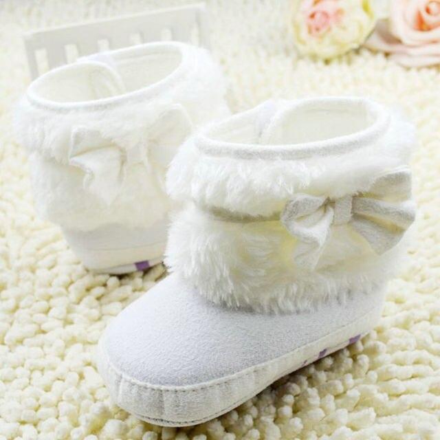 Tienda Online Niña bowknot fleece Botas de nieve botines niños ...