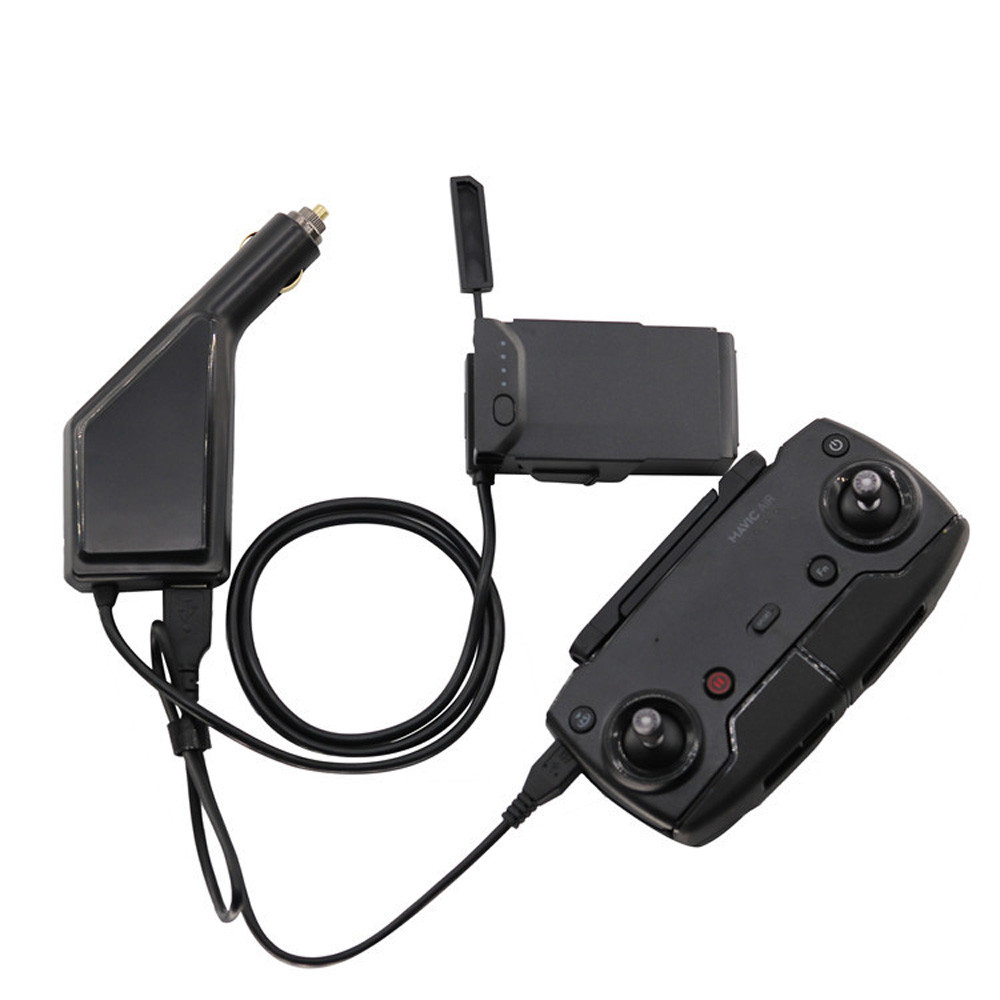 Battery Charger For DJI Mavic AIR Drone 2 in1 USB Car Charger Remote ControlBattery Charger For DJI Mavic AIR Drone Drone M.12